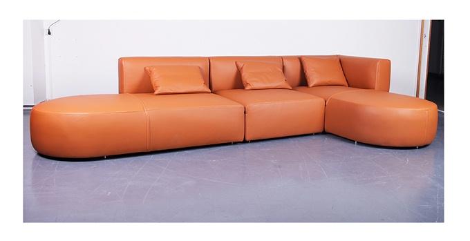 多索  现代简约转角客厅组合真皮沙发(Dosso Sofa)