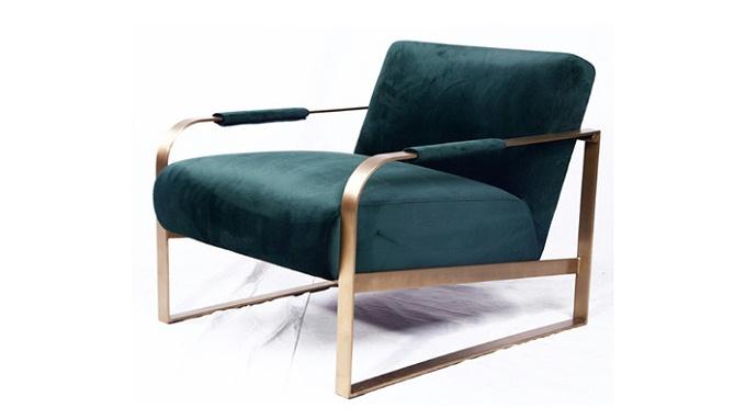 博斯 现代轻奢简约单人布艺休闲椅(Bosch Chair)