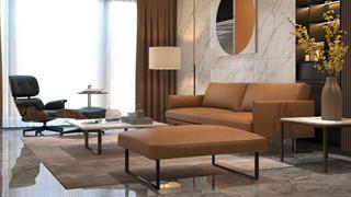 现代轻奢真皮沙发是家具行业的流行风尚