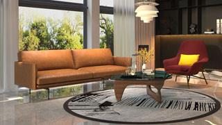 皮沙发选什么样颜色的好看